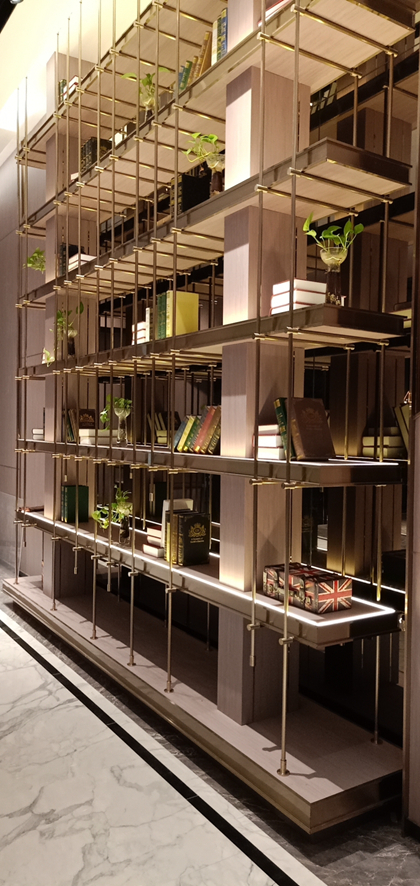 七层结构不锈钢展示架/柜子